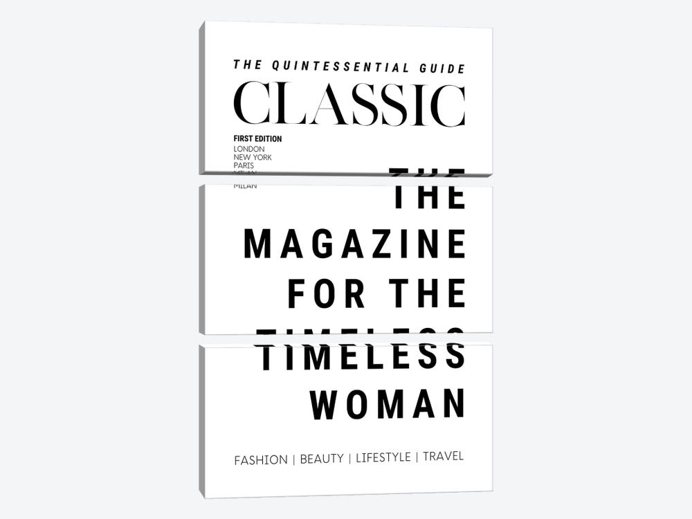 The Classic Woman'S Magazine Cover For The Timeless Woman by Design Harvest 3-piece Canvas Wall Art