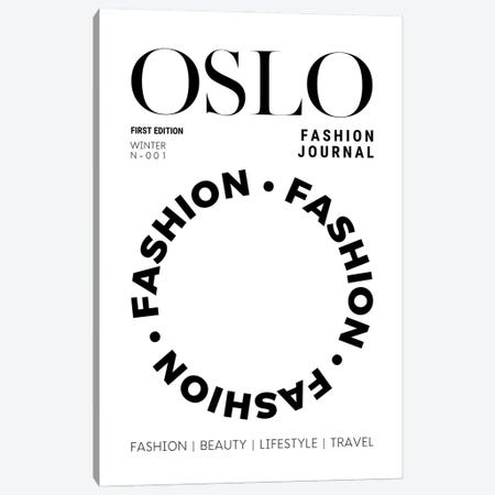 Oslo Fashion Journal Magazine Cover In Black And White Canvas Print #DHV70} by Design Harvest Canvas Print