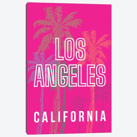 Los Angeles California With Palm Trees Canvas Print #DHV8} by Design Harvest Art Print