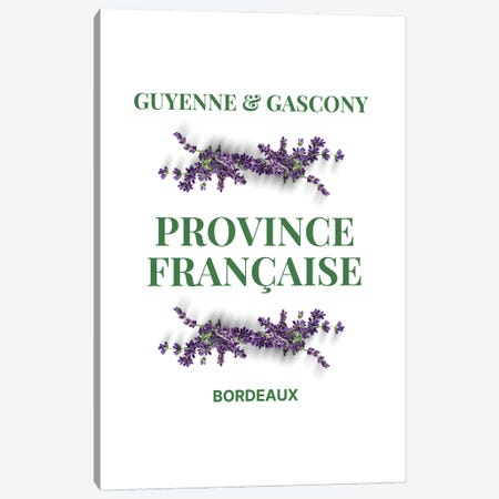 French Provincial Guyenne And Gascony With Lavender Canvas Print #DHV9} by Design Harvest Art Print
