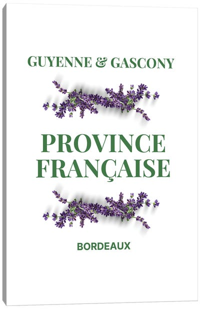 French Provincial Guyenne And Gascony With Lavender Canvas Art Print