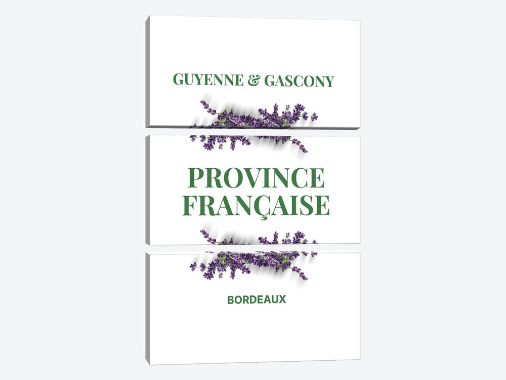 French Provincial Guyenne And Gascony With Lavender by Design Harvest 3-piece Canvas Art Print