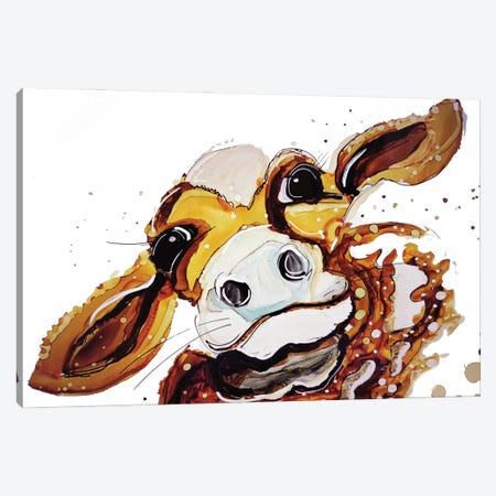 Moo-Dy Cow Canvas Print #DID18} by didArt Studio Canvas Wall Art
