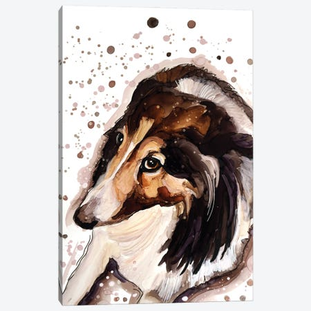 Dog Or Hedgehog? Canvas Print #DID32} by didArt Studio Canvas Artwork