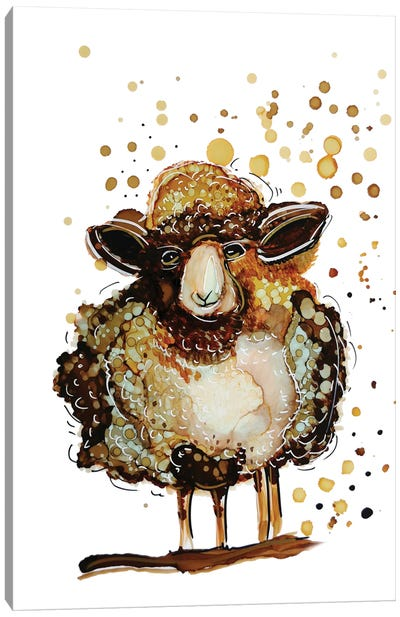 Whimsical Sheep Canvas Art Print