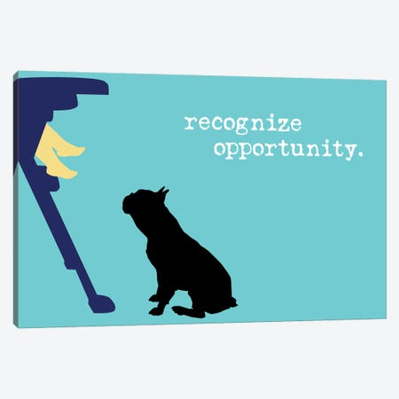 Opportunity II Canvas Print #DIG100} by Dog is Good and Cat is Good Canvas Wall Art