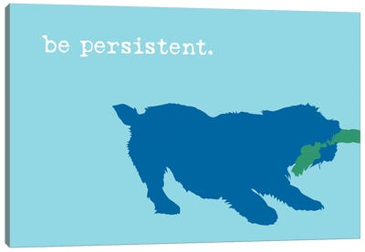 Be Persistent, Blue On Blue Canvas Art Print