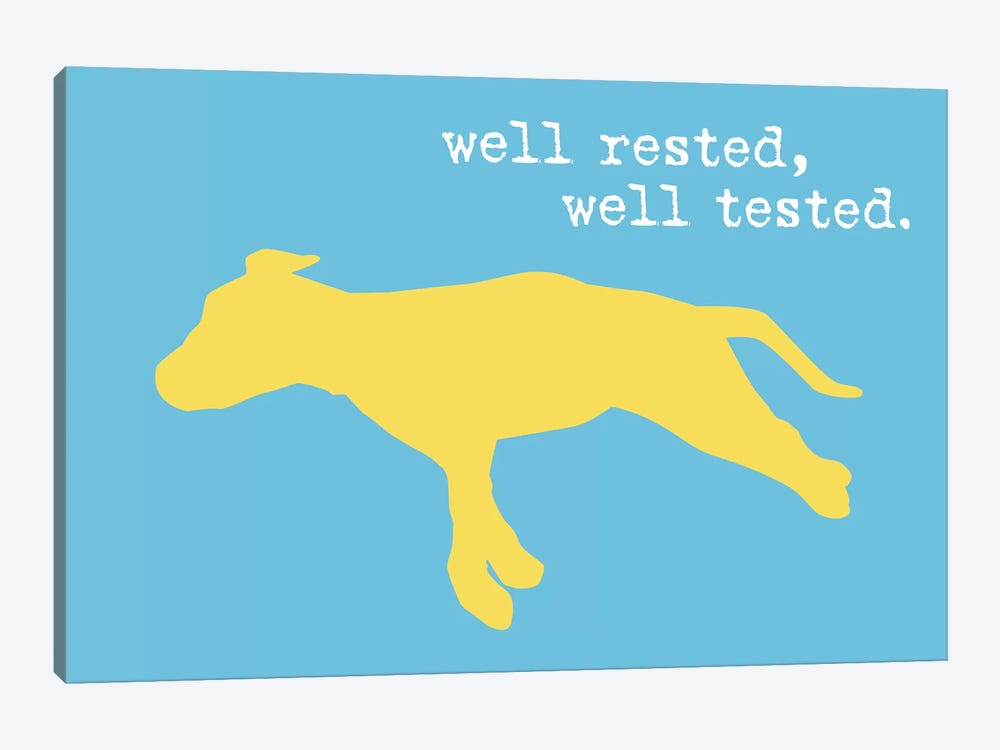 Well Rested II by Dog is Good and Cat is Good 1-piece Canvas Print