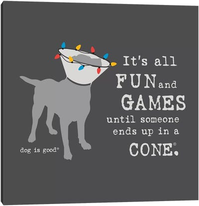 Fun and Games Holiday Canvas Art Print