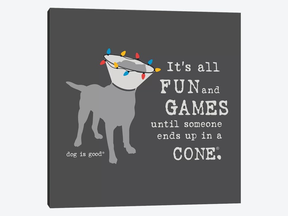 Fun and Games Holiday by Dog is Good and Cat is Good 1-piece Canvas Wall Art