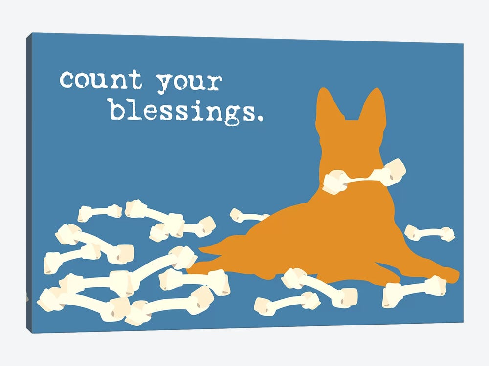 Blessings by Dog is Good and Cat is Good 1-piece Canvas Print
