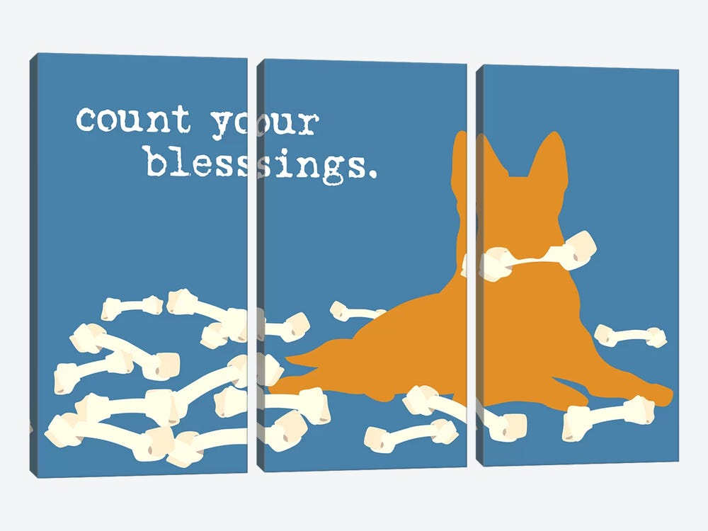 Blessings by Dog is Good and Cat is Good 3-piece Canvas Print
