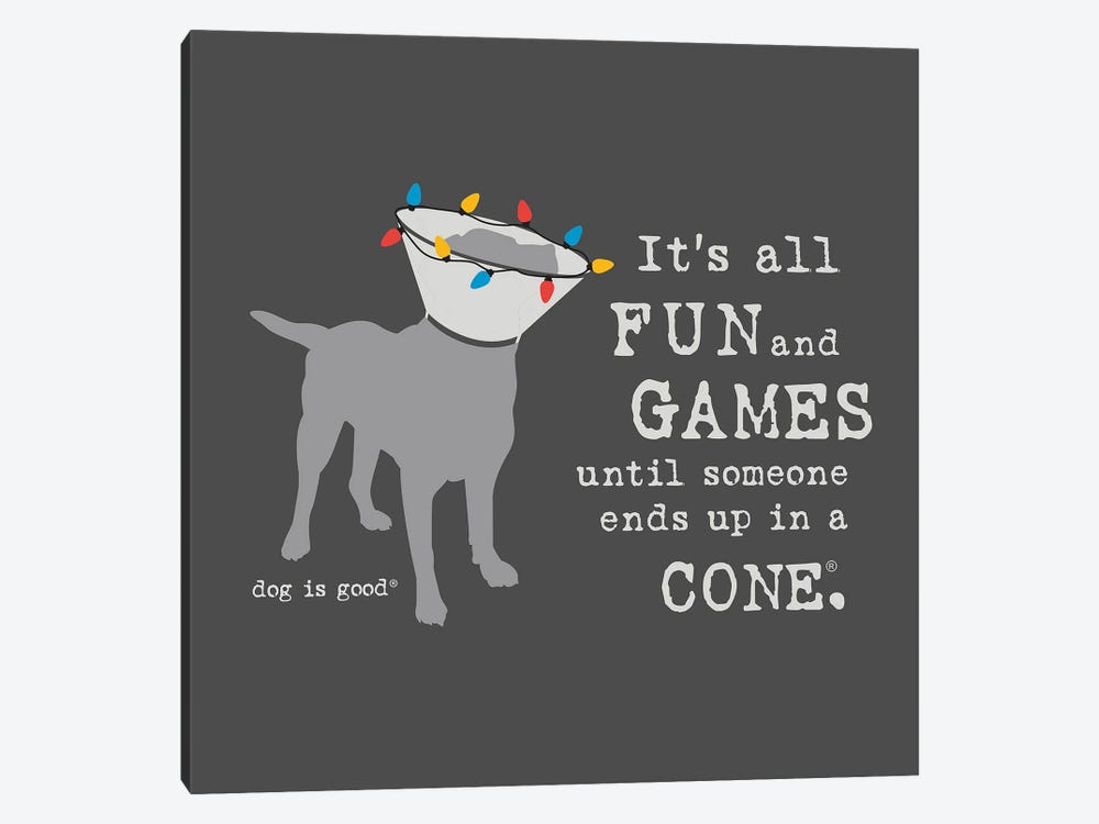 Fun And Games Holiday by Dog is Good and Cat is Good 1-piece Canvas Artwork