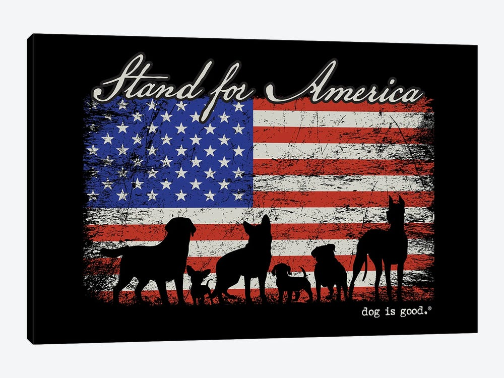 Stand For America by Dog is Good and Cat is Good 1-piece Canvas Print
