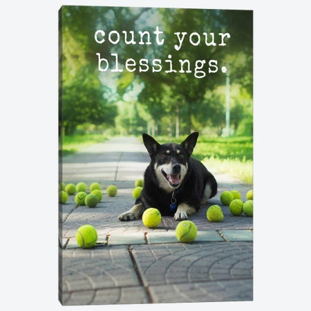 Blessings - Realistic Canvas Print #DIG12} by Dog is Good and Cat is Good Art Print
