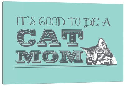 Cat Mom Greeting Card Canvas Art Print