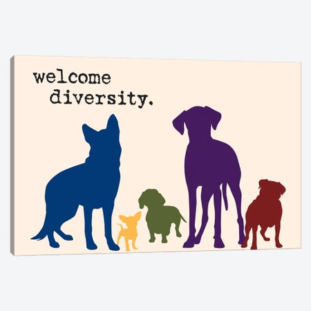 Diversity Canvas Print #DIG21} by Dog is Good and Cat is Good Canvas Artwork