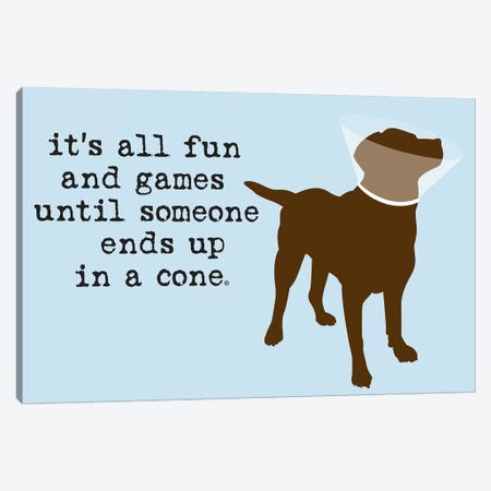 Fun And Games Canvas Print #DIG26} by Dog is Good and Cat is Good Canvas Print