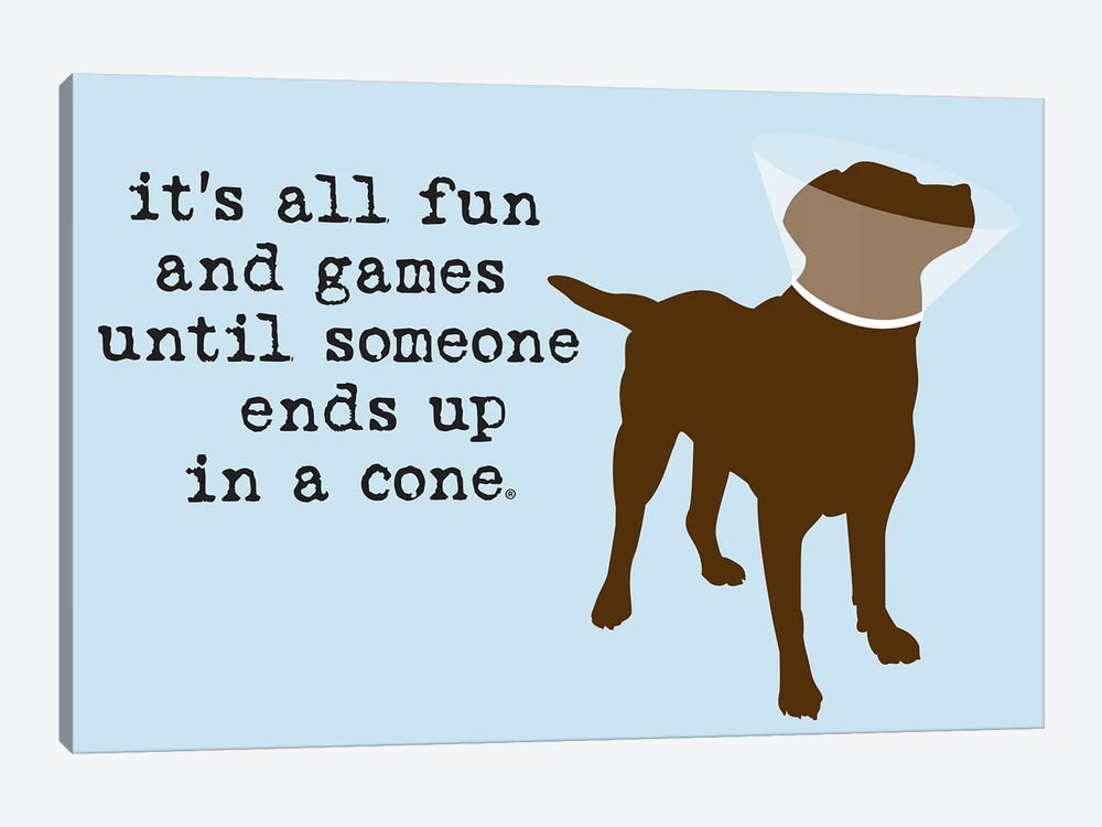 Fun And Games by Dog is Good and Cat is Good 1-piece Canvas Art Print