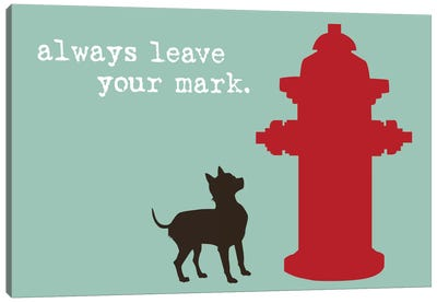 Leave Your Mark Canvas Art Print