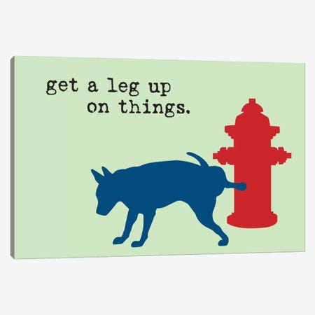 Leg Up Canvas Print #DIG40} by Dog is Good and Cat is Good Canvas Wall Art