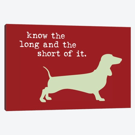 Long And Short Canvas Print #DIG42} by Dog is Good and Cat is Good Canvas Art