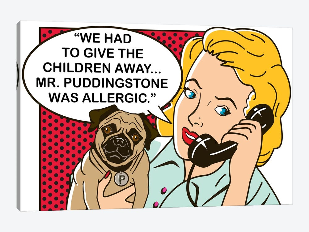 Mr. Puddingstone by Dog is Good and Cat is Good 1-piece Art Print