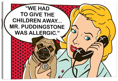 Mr. Puddingstone Canvas Art Print