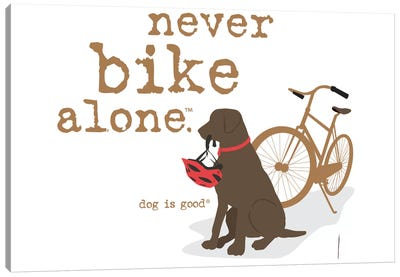 Never Bike Alone Canvas Art Print