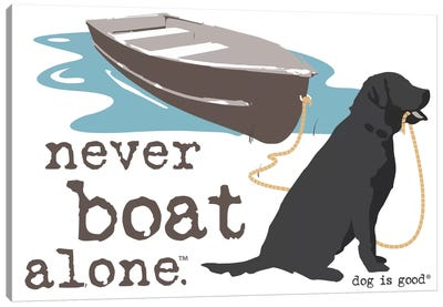 Never Boat Alone II Canvas Art Print