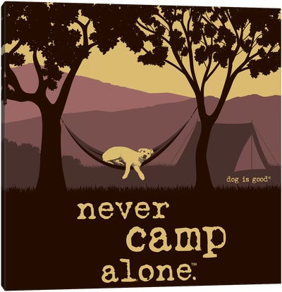 Never Camp Alone II Canvas Art Print