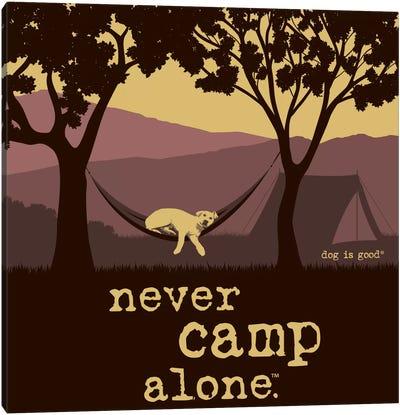 Never Camp Alone II Canvas Art Print