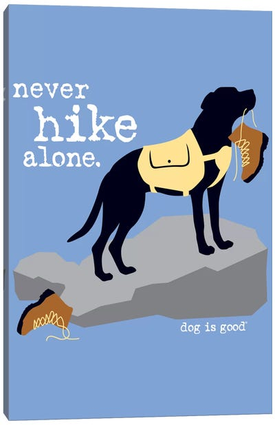 Never Hike Alone Canvas Art Print