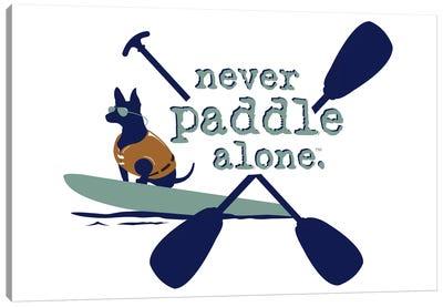 Never Paddle Alone Canvas Art Print