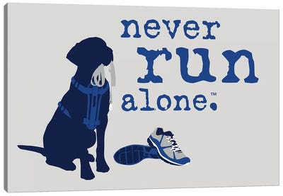 Never Run Alone Canvas Art Print