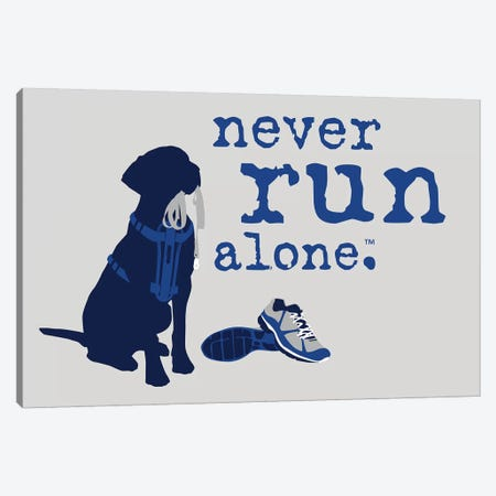 Never Run Alone 3-Piece Canvas #DIG59} by Dog is Good and Cat is Good Canvas Print
