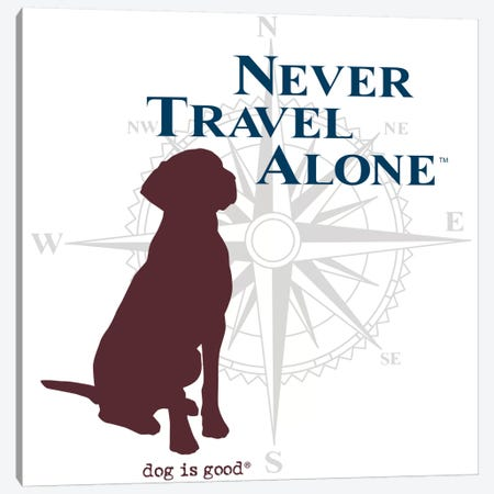 Never Travel Alone II Canvas Print #DIG63} by Dog is Good and Cat is Good Canvas Artwork