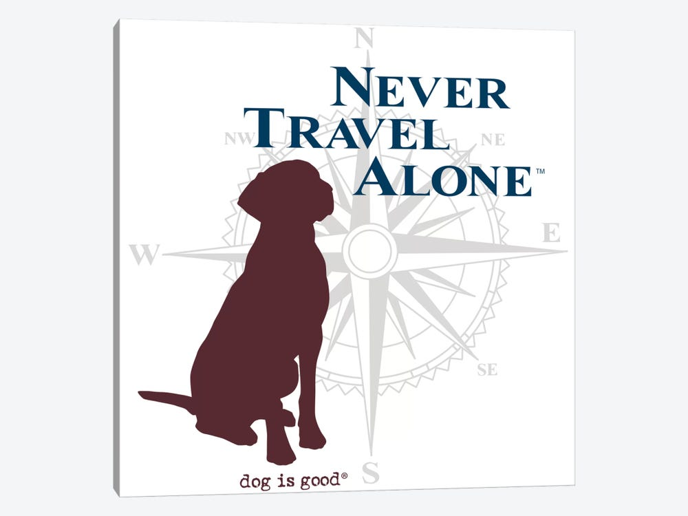 Never Travel Alone II by Dog is Good and Cat is Good 1-piece Canvas Wall Art