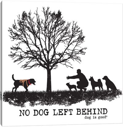 No Dog Left Behind Canvas Art Print