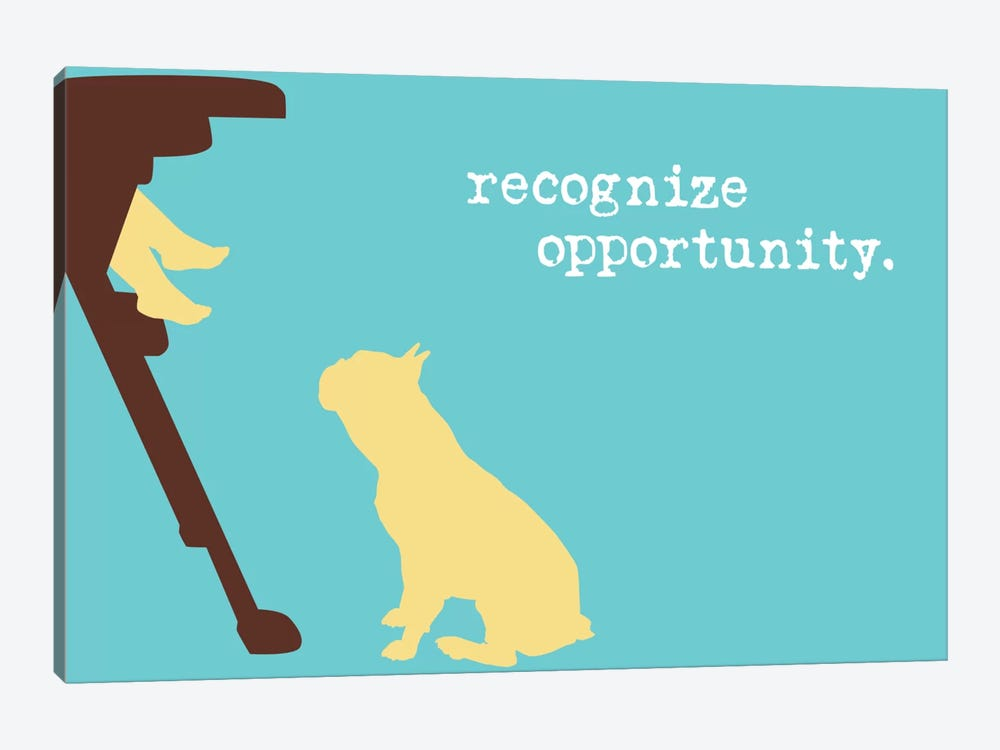 Opportunity I by Dog is Good and Cat is Good 1-piece Canvas Art Print