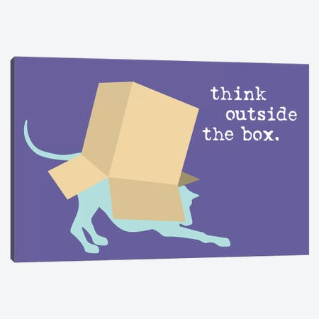 Outside The Box Canvas Print #DIG74} by Dog is Good and Cat is Good Canvas Artwork