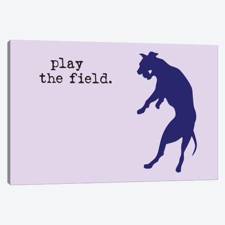 Play The Field Canvas Print #DIG75} by Dog is Good and Cat is Good Canvas Wall Art