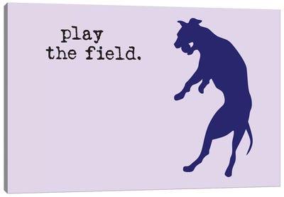 Play The Field Canvas Art Print