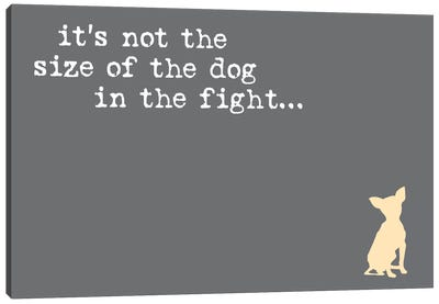 Size Of The Dog Canvas Art Print