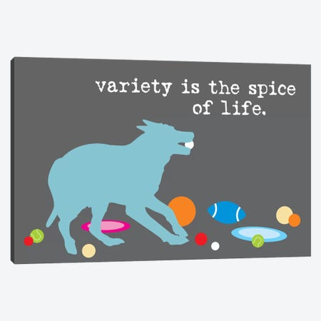 Spice Of Life Canvas Print #DIG82} by Dog is Good and Cat is Good Canvas Art
