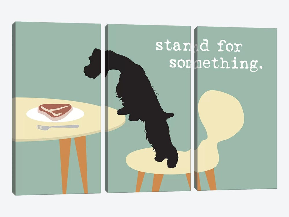 Stand For Something by Dog is Good and Cat is Good 3-piece Canvas Art Print