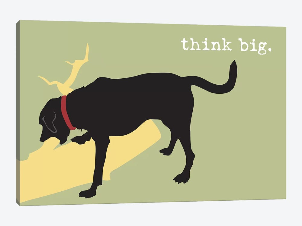 Think Big by Dog is Good and Cat is Good 1-piece Canvas Wall Art