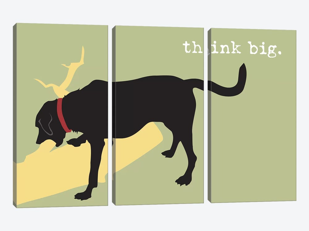 Think Big by Dog is Good and Cat is Good 3-piece Canvas Art