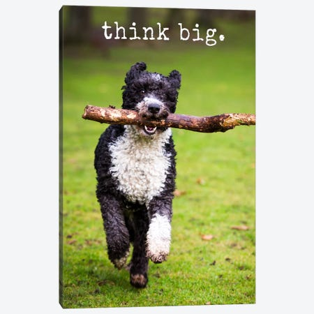 Think Big - Realistic Canvas Print #DIG86} by Dog is Good and Cat is Good Art Print