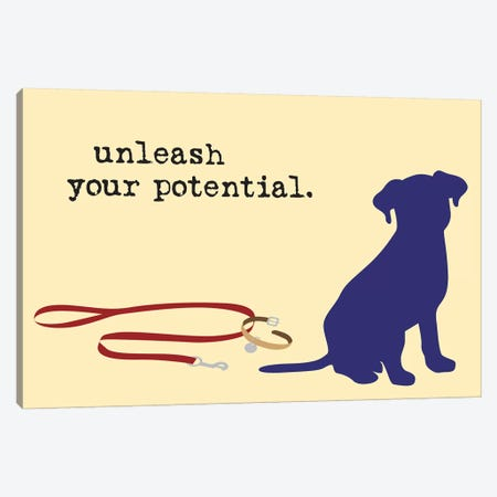 Unleash Your Potential 3-Piece Canvas #DIG87} by Dog is Good and Cat is Good Canvas Art Print